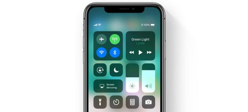 Control Center iOS™ 11
