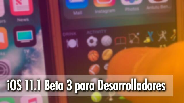 iOS 11.1 Beta 3