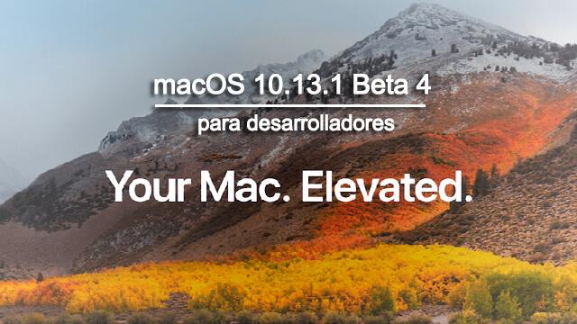 macOS 10.13.1 Beta 4