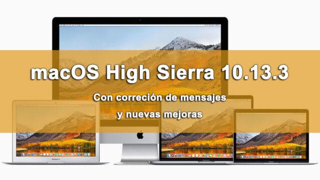 macOS High Sierra 10.13.3