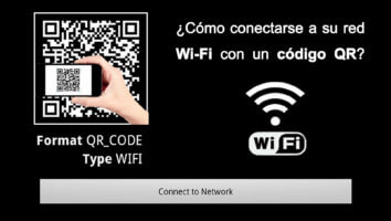 Red WiFi QR code