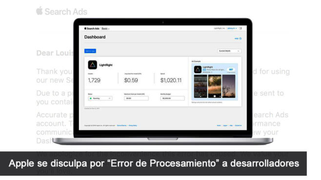 Apple Error Procesamiento
