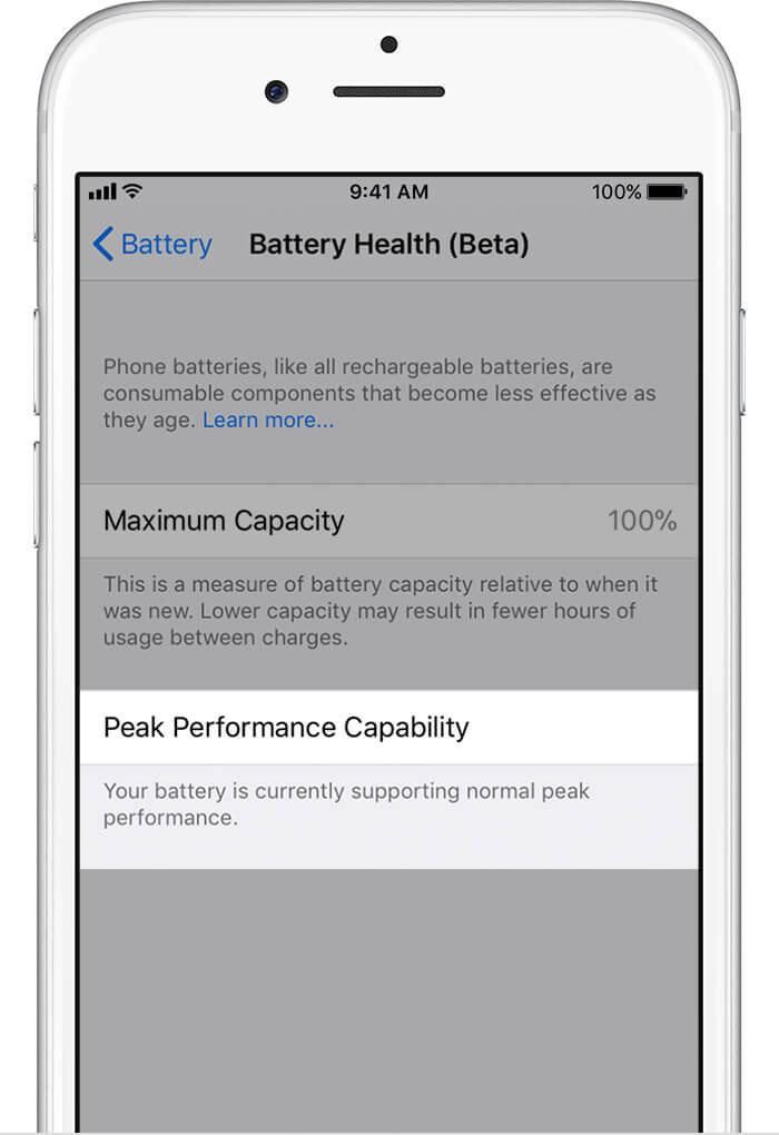 Batería iOS 11.3 Beta 2