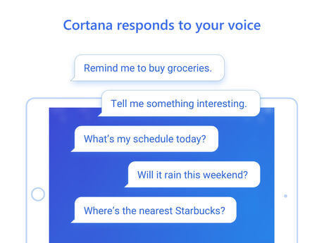 Cortana iPad