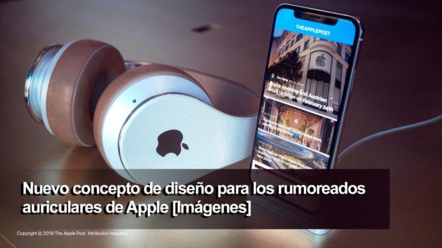 Concepto de auriculares de Apple