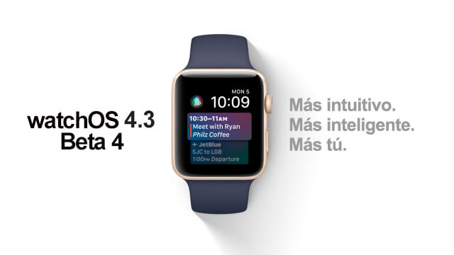 watchOS 4.3 Beta 4