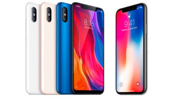 Mi 8 vs iPhone X