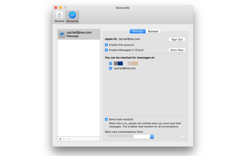Mensajes iCloud en Mac