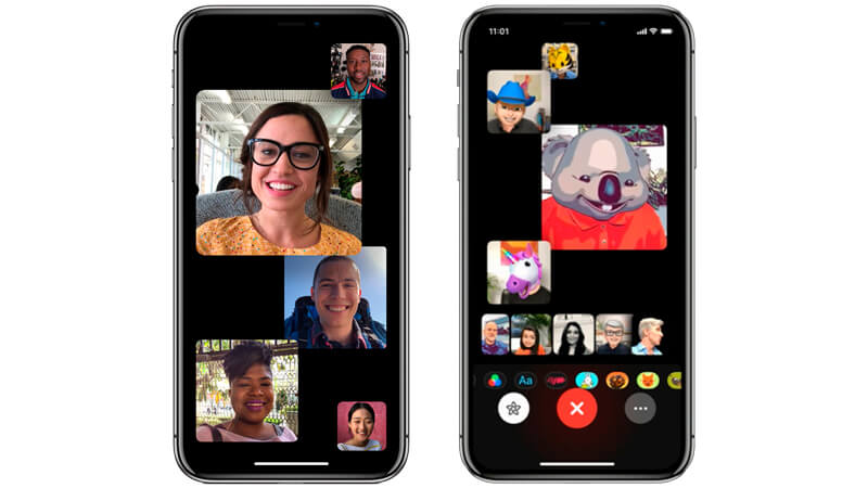 Grupo FaceTime iOS 12