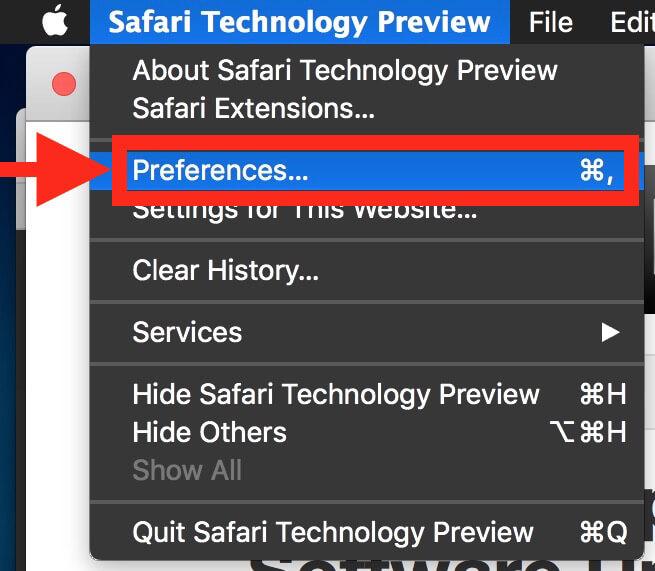 Safari MacOS