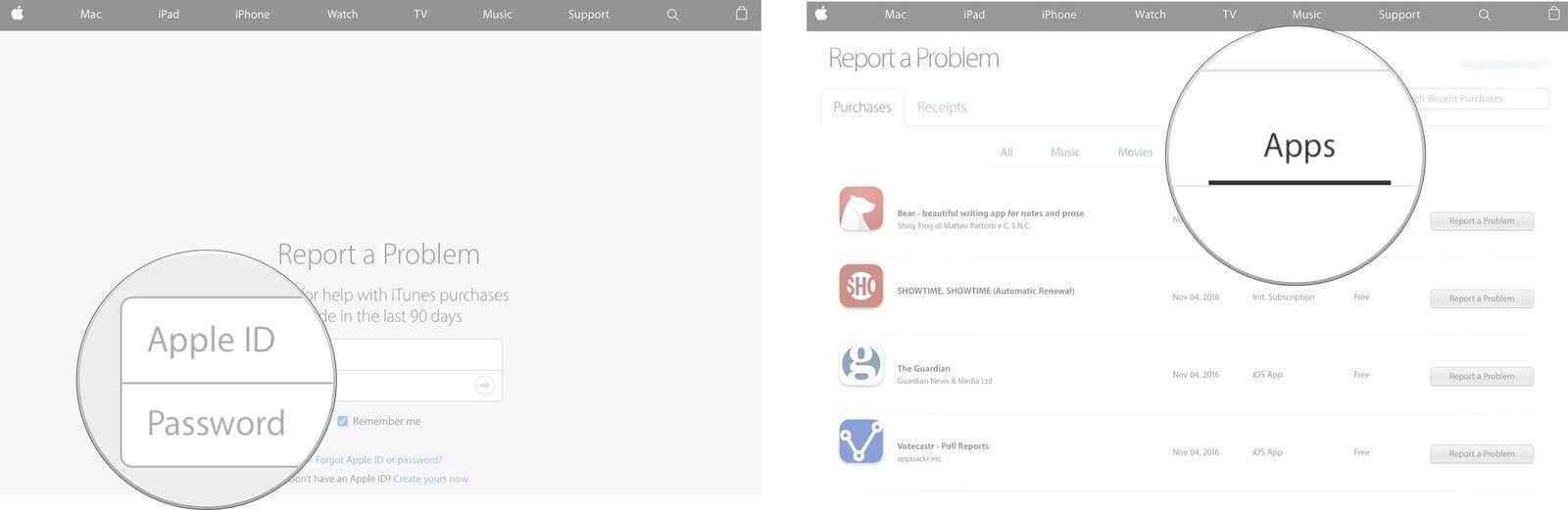 Reembolso App Store