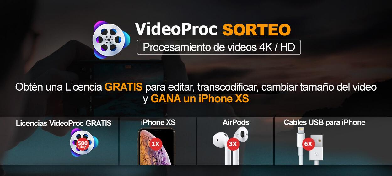 Sorteo VideoProc
