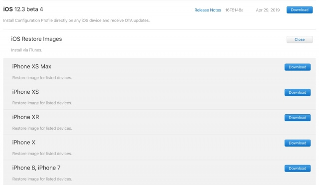 Beta 4 iOS 12.3