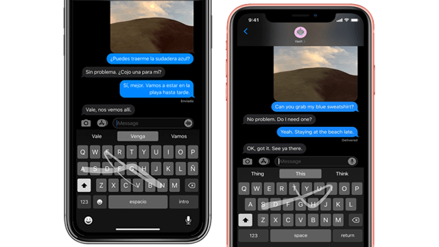 Swipe toType iOS 13