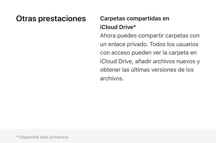 iCloud Drive folder sharing